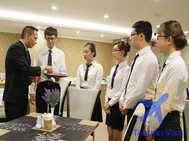 Nghiệp vụ khách sạn là 1 trong 14 nghề được cấp visa Tokutei