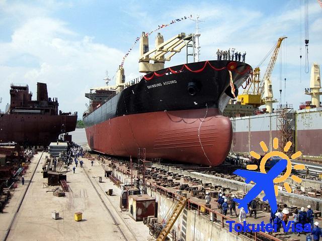 Đóng tàu - hàng hải là một trong 14 ngành theo diện visa Tokutei loại 1